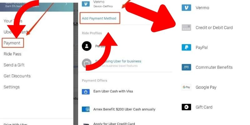 Update Default Payment on Uber | Uber Payment Options |